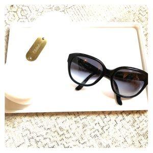 Chloe oversized black sunglasses